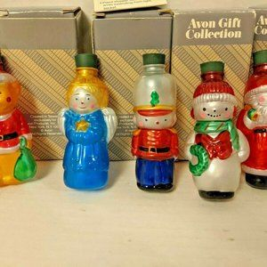 Avon Blown Glass Vintage Christmas Light Covers